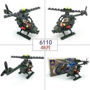 Image 3 - 市警察シリーズミニ警察パイロット労働者ブロック教育ビルディングブロック玩具互換legoing市の子供キッズおもちゃギフト