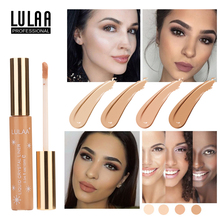 LULAA Face Concealer Professional Liquid Concealer Makeup Full Coverage Dark Circles Acne Marks Base Primer Cream Cosmetic dermacol brand high quality concealer liquid foundation cover freckles acne marks waterproof professional primer cosmetic makeup