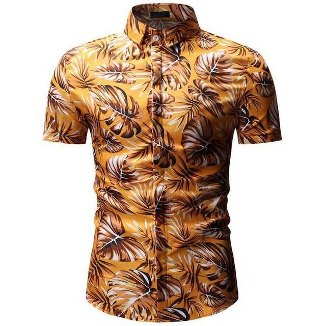 76f0336886 Hot Sale Mens Summer Beach Hawaiian Shirt 2019 Brand Short Sleeve Plus  Floral Shirts Men Casual Holiday Vacation Clothing Camisa