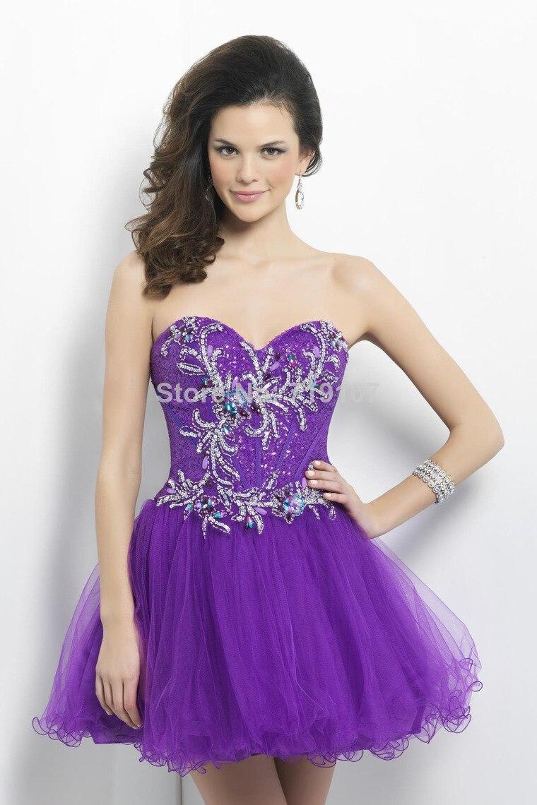 Aliexpress.com : Buy Sweetheart Sleeveless Beading Homecoming ...