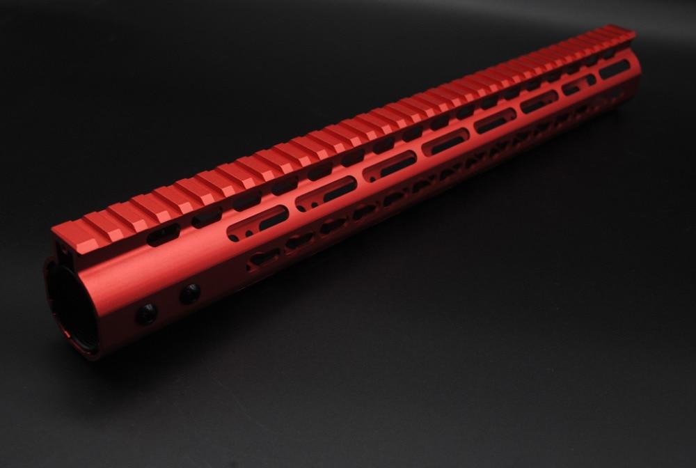 TriRock 7'' 9'' 10'' 12'' 13 5'' 15'' Length Red Free Float Rail Mount  Keymod Handguard with Steel Barrel Nut Fit AR-15