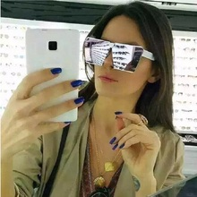 New Fashion Sunglasses Women Hip Hop Retro Glasses Mirror Female Ladies Fashion Women Sunglasses Oversize Shield Vintage glasses