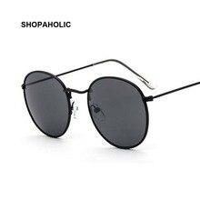 2017 Round Retro Sunglasses Women Brand Designer Female Mirror Sunglasses Ray Pink Luxury Sun Glasses For Women Men UV400