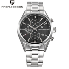 Men Watch Luxury Brand PAGANI DESIGN Staniless Steel Business Watches Men Storts Quartz Wristwatch Clock Male Reloj Hombre 2018 pagani design luxury brand chronograph business watches men waterproof 30m calendar quartz watch steel clock men reloj hombre