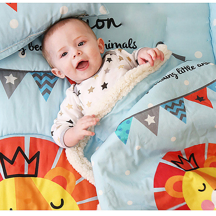 Baby blankets new thicken font b double b font layer fleece infant swaddle bebe envelope font