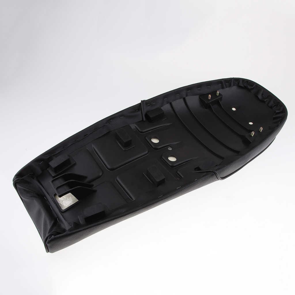 1 компл. Черное мотоциклетное Кафе Racer сиденье под заказ винтажное седло плоский панорамирование Ретро сиденье для Honda CB125S CB200 CB350 CL350 CB400