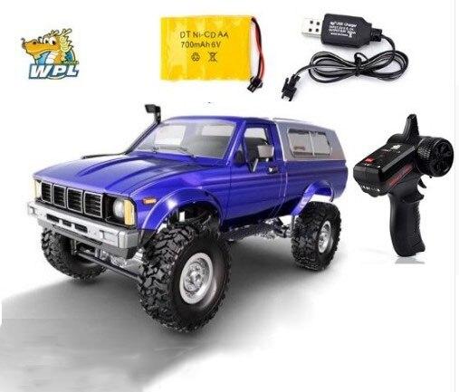 WPL C24 RC автомобиль дистанционного Управление Car 2,4 г Радиоуправляемый гусеничный внедорожника Багги движущейся машины 1:16 4WD дети аккумулятор...