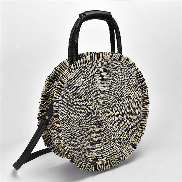 Tassel Handbag Straw Bag...