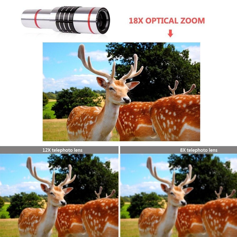 18x telescopio óptico Zoom Smartphone objetivo lente de la Cámara + trípode portátil para Samsung para teléfonos móviles Iphone - 4