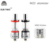 5pcs Lot Original Sub Two M22 E Cigarette Atomizer Vape Tank With 0 5ohm Vocc Coil