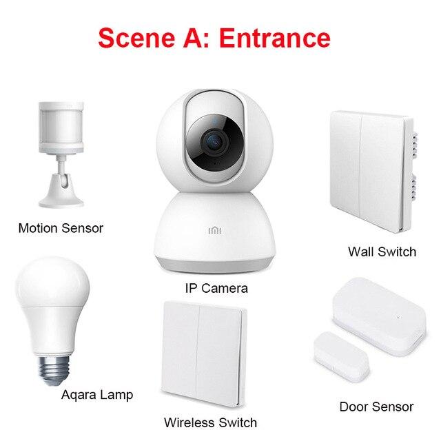 Original Xiaomi Mijia 1080P Smart Camera IP Gateway Hub Wall Wireless  Switch Water Sensor Temperature Humidity Sensor Home Kits