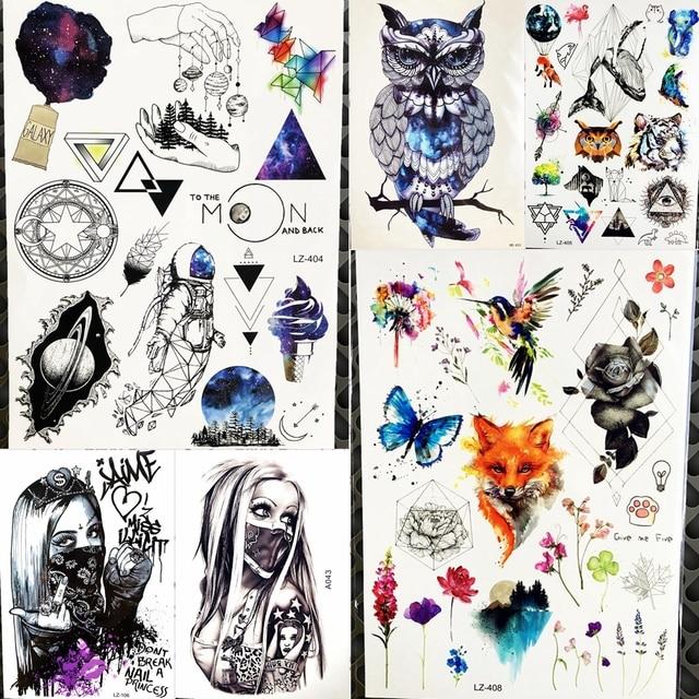 Calcomanías De Dibujos Animados Tatuaje Temporal Universo Niños