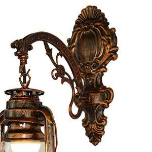 Image 4 - Vintage LED Wall Lamp Barn Lantern Retro Kerosene Wall Light European Antique Style WF4458037