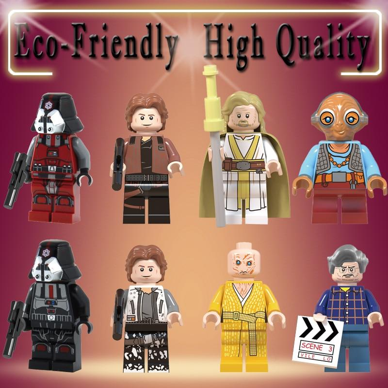 Building Blocks Single Sale George Lucas Sith Trooper Snoke Maz Kanata Luke Skywalker Action Figure Children Gift Toys