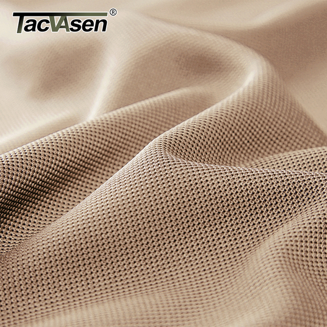 TACVASEN Summer T-shirts Golf Polos Men's Tactical Clothing Quick Dry Mesh Fabric Army Performance Airsoft Tee Shirts Tops Male 5