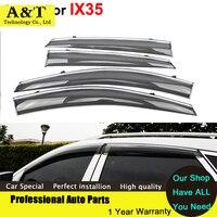 Car Styling Window Visors For Hyundai IX35 IX 35 2012 2013 2014 2015 Sun Rain Shield