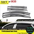 Estilo do carro Janela Viseiras Para Hyundai IX-35 IX35 2012 2013 2014 2015 Sol Chuva Escudo Adesivos Cobre Toldos Abrigos Carro acesso