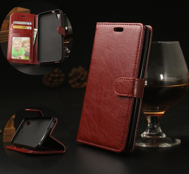 Luxury Wallet PU Leather Flip Case For HTC Desire 626 626G 626S Cell Phone Back Case With Card Holder Stand Cover for HTC 626