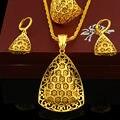Nueva Llegada Etíope Colgante Sistema De La Joyería/Collar/Pendiente/Anillo de La Joyería 24 K Chapado En Oro de Eritrea Habesha Mujeres partido Africano