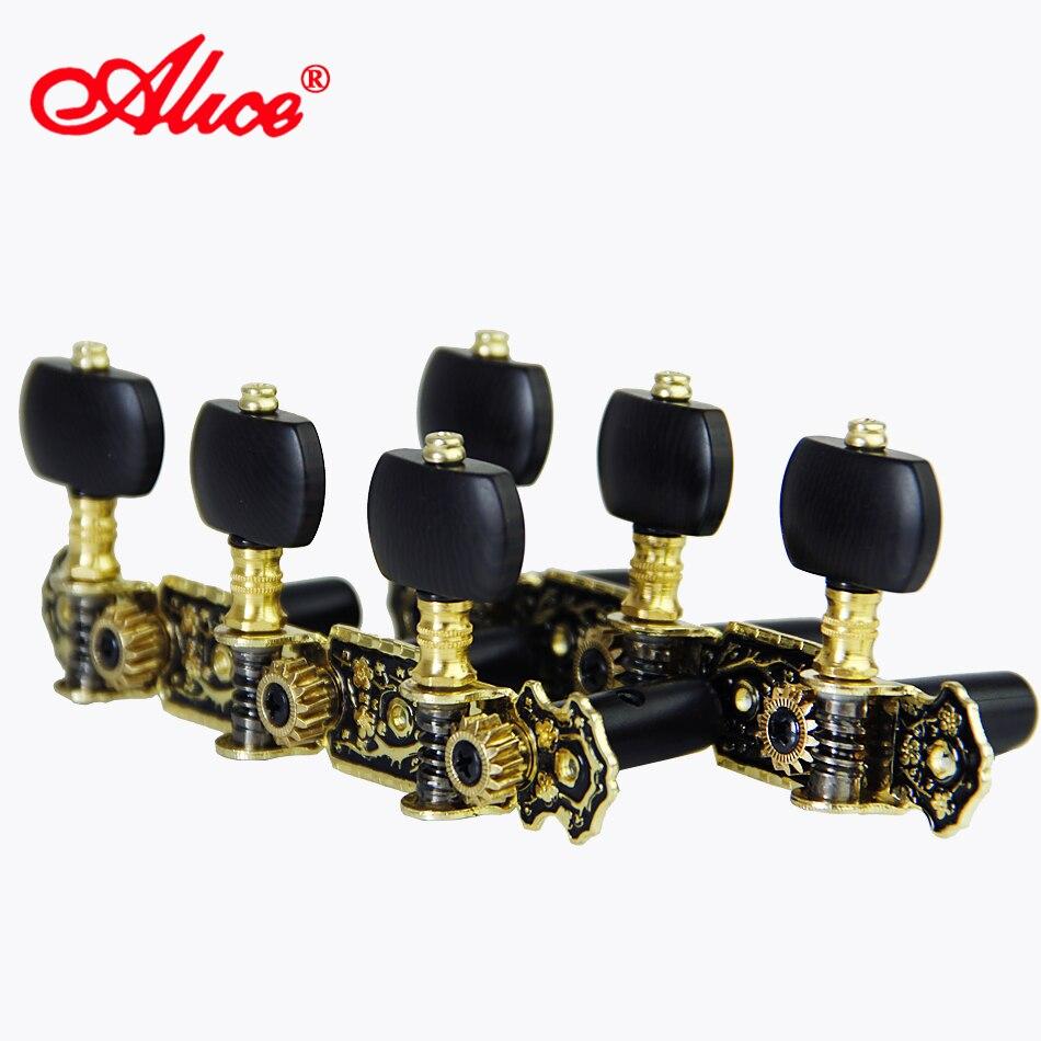 Sintonizadores de guitarra clássica máquina de guitarra cabeças (longo) 3 + 3 conjunto de chaves de ajuste máquina pegs alice tuning pegs