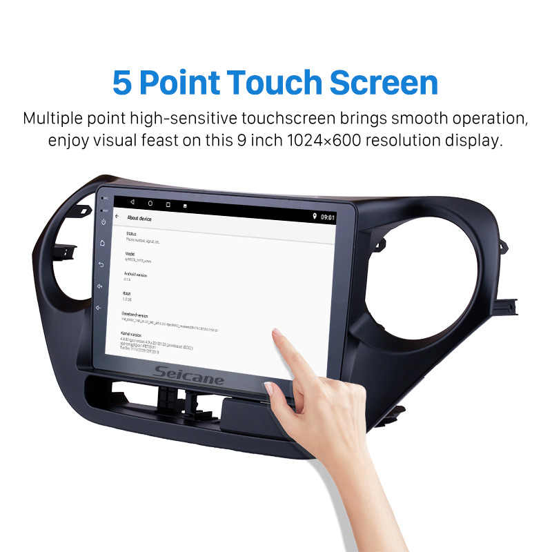 Seicane 9 Inch Android 7.1/8.1 Auto GPS Navigatie Radio Multimedia Speler Voor 2013 2014 2015 2016 HYUNDAI I10 grand i10 RHD