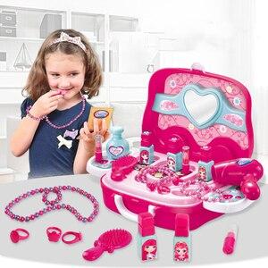 Image 1 - Keuken Pretend Play Kit Voedsel Speelgoed Miniatuur Educatieve Rol Speelhuis Spel Puzzel Cocina Juguete Gift Voor Meisje Kid Kinderen