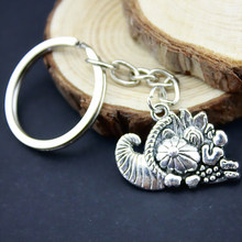 3Pcs New Fashion Keychain 28*20mm Cornucopia Pendants DIY Jewelry Metal Car Key Chain Ring Holder Souvenir Party Gift B11752(China)