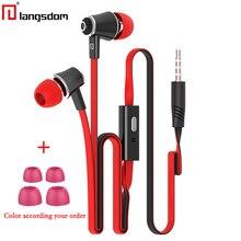 Original Langsdom JM21 earphones with Microphone Super Bass 3.5mm Earphone Headset For iphone 6 6s xiaomi earphone smartphones