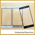 Blanco/negro/oro frente exterior lente de cristal para huawei p9 pantalla piezas de repuesto