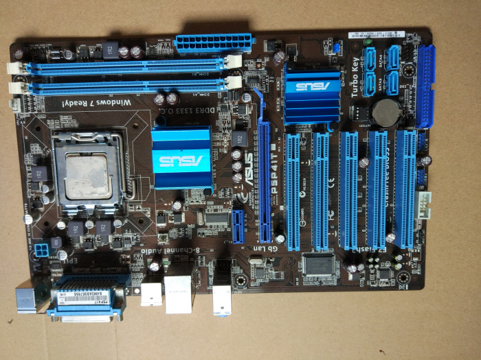 Used,for Asus P5P41T Original Used Desktop Motherboard G41 Socket LGA 775 DDR3 8G SATA2 USB2.0 ATX коврик домашний sunstep цвет синий 140 х 200 х 4 см