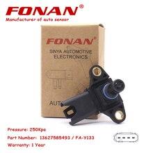Alta Qualidade MAPA Sensor de Pressão Do Turbo Para BMW 1 E90 E91 E88 E82 3 5 F10 F11 F07 6 F12 7X3 F25 E89 X5 Z4 3.0-6.0L 13627551429