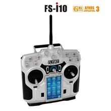 Оригинал FS FlySky FS-i10 2.4 г Digital Пропорциональный 10 6-канальный Передатчик и Приемник Системы 3.55 «LED Экран бесплатная доставка