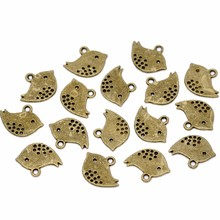 250Pcs Free shipping Wholesales Hot New DIY Bronze Tone Bird Charms Pendants Jewelry Making Findings Component 16x13mm