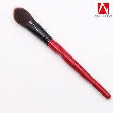 Nova quantidade limitada vermelho corpo curva plástico punho longo sintético macio grande angular pó escova