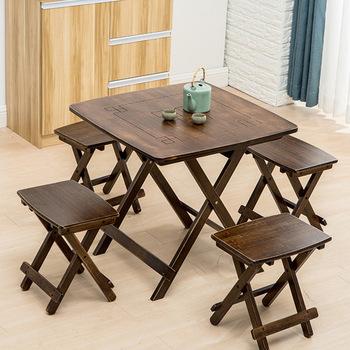 Zestaw ogrodowy meble ogrodowe składane meble ogrodowe meble ogrodowe muebles de jardin1 stół bambusowy + 4 krzesła stołki zestawy sprzedaż tanie i dobre opinie Ogród zestaw BAMBOO Nowoczesne Ecoz
