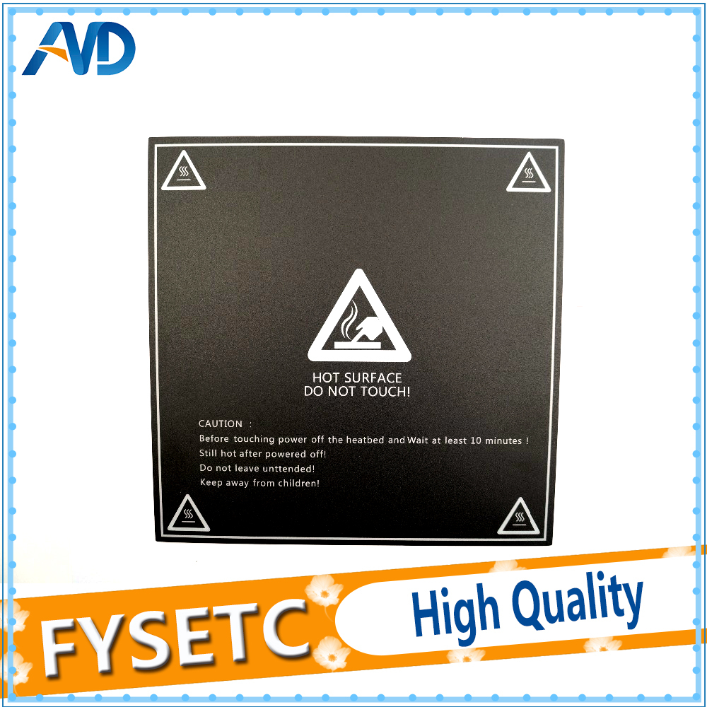 Us 9 31 18 off2pc 400x400mm frosted heated bed sticker printing build sheets build plate tape platform sticker with 3m for cr 10 3d printer in 3d