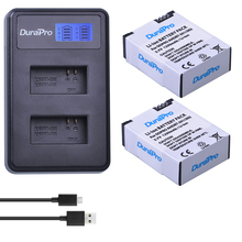 2pc 1250mAh AHDBT 301 AHDBT 302 Rechargeable Battery LCD USB Charger for AHDBT 301 302 Gopro