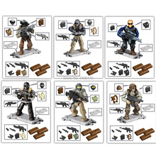 hot LegoINGlys military WW2 Counterterrorism City war Building Blocks mini Army figures Weapons MOC model bricks toys for gift
