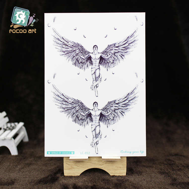 b44a4cc6dea4a ... 8 Different Styles Devil Hole Cool Feather Wings Tattoo Designs  Temporary Tattoos Man With Demon Angels ...