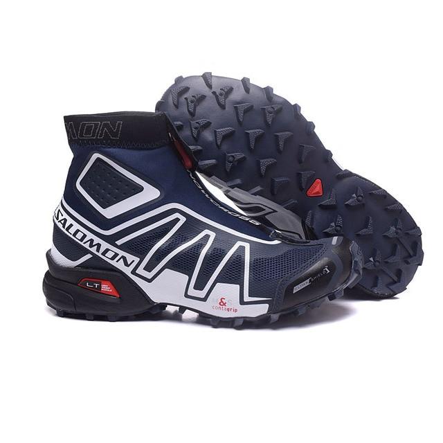 e5926038c6d5 Salomon Speed Cross CS Snowcross Sneakers Men Running Shoes Classic black  blue Outdoor Warm Speedcross Sports