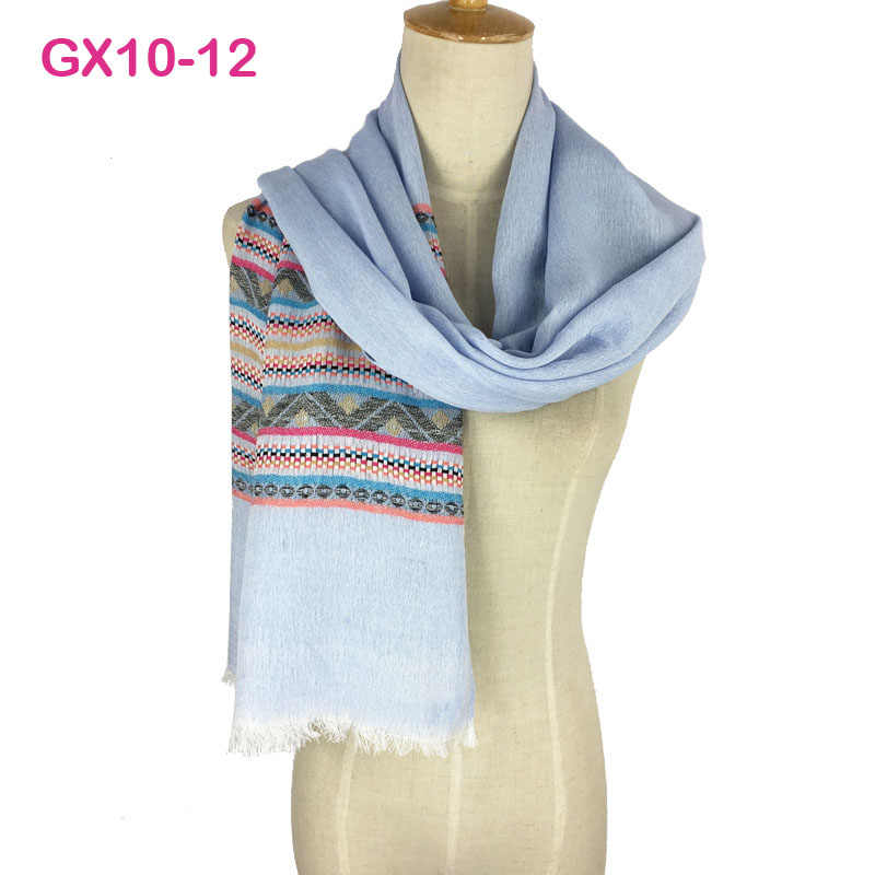 06b72f745 ... Gorgegous Branded Long Cotton Shawl Very comfortable Jacquard Hijab  Wrap Pashmina Women Fashional Yarn-Dyed ...