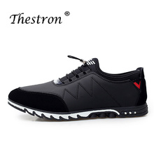 Man Casual Shoes Black Blue Top Men Fashion 2018 Skate Spring Summer Flat Footwear Comfortable PU