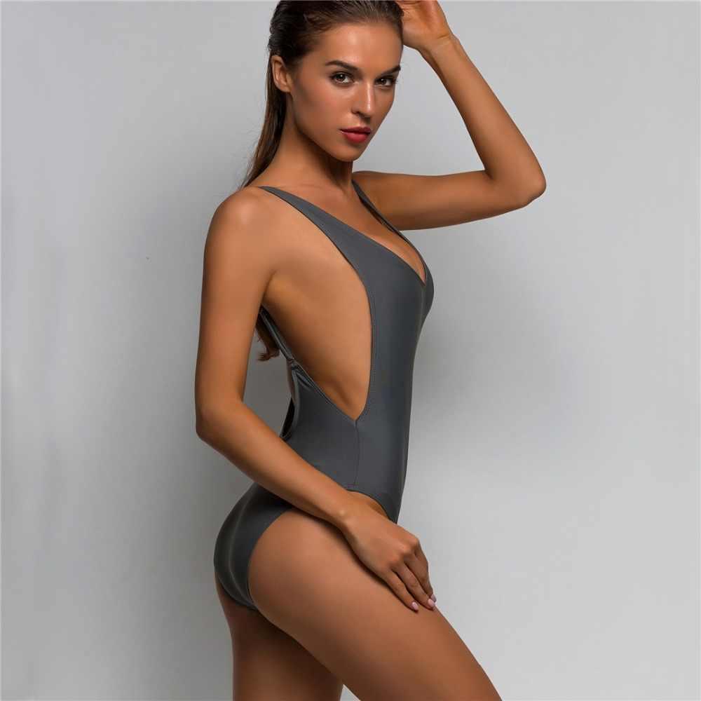 a6b6548266 ... New Sexy Low Back Swim Suit For Women Swimwear One Piece Swimsuit  Female Bather 2019 Bathing ...
