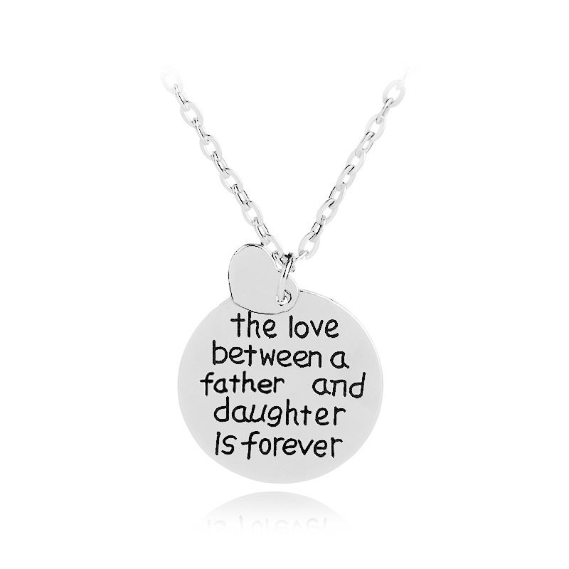 Father's Day Gift the love between a father and daughter is forever Necklace Wholesale 20pcslot