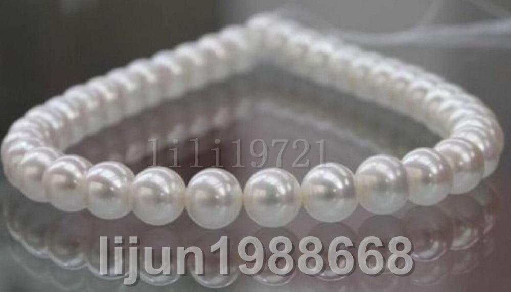 Beautiful south sea AAA 7-7.5 mm white pearl Loose Bead 15Beautiful south sea AAA 7-7.5 mm white pearl Loose Bead 15
