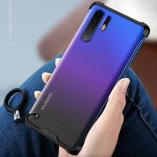 עבור Huawei P30 פרו/P30 מקרה נגד לדפוק מט אקריליק חזרה כיסוי עבור Huawei P30 P 30 30Pro בתוספת מקרה טלפון כיסוי Caphina פגז