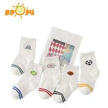 ADOMI (10 шт./лот = 5 пара) хлопок детские носки набор весна/осень зима Новый младенческая малышей этаж нет кости для 1-10 Т