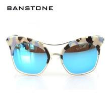 BANSTONE New Очков Известный Cat Eye Солнцезащитные Очки Женщины Ретро Дамы Негабаритных Солнцезащитные Очки Люнет de soleil femme