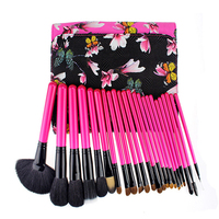 Flower Professional Makeup Brushes 25 Pcs Cosmetic Makeup Brush Set Foundation Eyebrow Brush Facial Blush Brushes