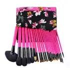 flower 25 Pcs Cosmetic Makeup Brushes professional tools kit Woman's pincel Kabuki Foundation make up Brush eyeshadow